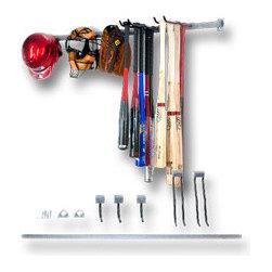 Garage Storage Racks - Sports gear rack. Keep the garage organized with specialized storage racks.