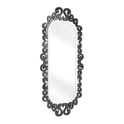 Zuo Accents - Shiva Mirror, Black - This unique wall mirror is sure to make a statement in your trendy teen room or contemporary kid's bathroom. This large mirror is surrounded by a clear reflective frame made up of a host of swirling shapes. This mirror is handcrafted with a solid back and dual wires for multiple hanging positions.
