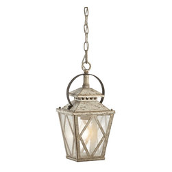 Kichler Lighting - Kichler Lighting 43246DAW Hayman Bay Traditional Pendant Light - This delicate 1 light pendant from the Hayman Bay collection will make a memorable statement in your home. Featuring a Distressed Antique White finish and Clear Seedy Glass, this design embraces understated elegance.