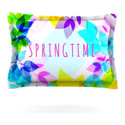 "Kess InHouse - Sreetama Ray ""Seasons Springtime"" Rainbow Leaves Pillow Sham (Cotton, 30"" x 20"") - Pairing your already chic duvet cover with playful pillow shams is the perfect way to tie your bedroom together. There are endless possibilities to feed your artistic palette with these imaginative pillow shams. It will looks so elegant you won't want ruin the masterpiece you have created when you go to bed. Not only are these pillow shams nice to look at they are also made from a high quality cotton blend. They are so soft that they will elevate your sleep up to level that is beyond Cloud 9. We always print our goods with the highest quality printing process in order to maintain the integrity of the art that you are adeptly displaying. This means that you won't have to worry about your art fading or your sham loosing it's freshness."
