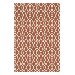 "Loloi Rugs - Loloi Rugs Felix Collection - Rust / Ivory, 3'-6"" x 5'-6"" - With bold patterns and fun color options, Felix is an ideal collection for any modern interior. These simple, geometricdesigns are printed in India onto an all-cotton surface, creating a look that's casual but still eye-catching."
