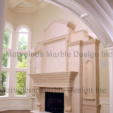 Traditional Living Room by Marvelous Marble Design Inc.