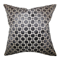 "The Pillow Collection - Kostya Geometric Pillow 18"" x 18"" - For a sleek urban look, adorn your home with this charming throw pillow. Made from 100% high-quality velvet material, this accent pillow features a lovely black hue. Adorned with a geometric pattern, this 18"" pillow offers the right mix of modern style. Toss this square pillow on your sofa, bed or seat. Made in the USA."