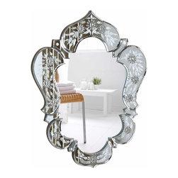 "PWG Lighting / Lighting By Pecaso - Xanthe Crystal Vanity Fixture MR-6898C - Mirror 20.7""x1""x25.6""H CL"
