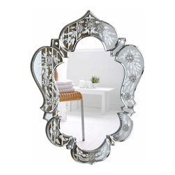 "PWG Lighting / Lighting By Pecaso - Xanthe Crystal Vanity Fixture MR-6898C - Mirror 20.7""x1""x25.6""H CL"