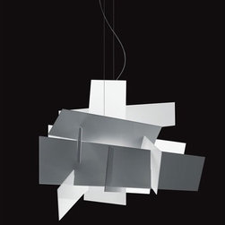 """Foscarini - Big Bang Chandelier - Features: -Pendant .-Big Bang Collection .-Designed by Enrico Franzolini and Vicente Garcia Jimenez .-Methacrylate plastic . Specifications: -Accommodates (1) 200 watt R7 halogen bulb (not included) .-Overall dimensions: 78.75"""" H X 37.75"""" W X 37.75"""" D ."""