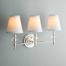 traditional bathroom lighting and vanity lighting by Restoration Hardware