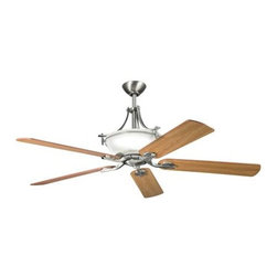 """Kichler - 60"""" Olympia 60"""" Ceiling Fan Antique Pewter - Kichler 60"""" Olympia Model KL-300011AP in Antique Pewter with Cherry Finished Blades."""
