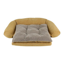 Carolina Pet Company - Ortho Sleeper Comfort Couch W/ Removable Cushion - Our updated design with tufted reversible cushion for two beds in one.  Velvet microfiber fabric.  Orthopedic foam base for comfort and relief on joints.  Zippered cover is removable for easy machine washing.  Bolsters and cushion have our 100% polyester high loft fill for added comfort.