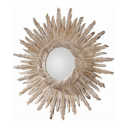 "Arteriors - Arteriors Home - Versailles Hand Carved Solid Wood Starburst Mirror - Arteriors Home - Versailles Hand Carved Solid Wood Starburst Mirror - DR2026 Features: Versailles Collection Mirror Whitewash finishWood and mirrorHand carvedD Ring hanger Some Assembly Required. Dimensions: 20"" W X 1.5"" D"
