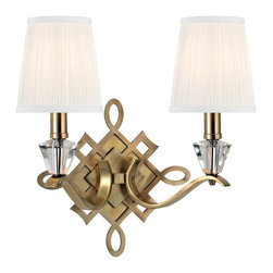 Hudson Valley Lighting - Hudson Valley Lighting 8182-AGB Fowler Aged Brass Wall Sconce - Hudson Valley Lighting 8182-AGB Fowler Aged Brass Wall Sconce