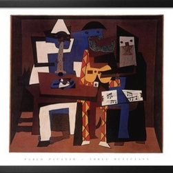 Artcom - Three Musicians, c.1921 by Pablo Picasso - Three Musicians, c.1921 by Pablo Picasso is a Framed Art Print set with a SOHO Thin wood frame.
