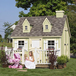 Little Cottage Cape Cod Wood Playhouse - With all of the elements of Cape Cod style, a backyard playhouse couldn't be any more darling.