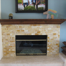 Eclectic Fireplaces by Grif Wood Designs