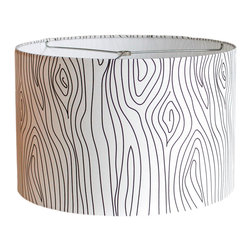 "MOOD Design Studio - Modern Lamp Shade - Winter Oak - New Collection Fall/Winter 2014-15, 20"" - This lamp shade is part of our new ""Nordic Winter"" collection for fall/winter 2014/15 and is called ""Winter Oak"". In Norway, the Oak tree is thought to be a ""noble"" tree. The Mollestad Oak tree near Grimstad, Norway is more than 1000 years old, and while hollow on the inside, it is still growing and bursts out with leaves every May!"