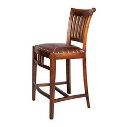 Nailhead trim leather bar stool bar stools amp counter stools shop for