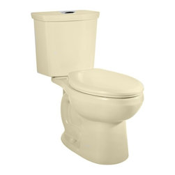 American Standard - American Standard H2Option Siphonic Dual Flush Right Height Elongated Toilet - American Standard 2886.216.021 H2Option Siphonic Dual Flush Right Height Elongated Toilet, Bone