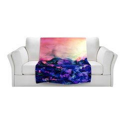 DiaNoche Designs - Fleece Throw Blanket by Julia Di Sano - Into the Eye Pink Indigo - Original Artwork printed to an ultra soft fleece Blanket for a unique look and feel of your living room couch or bedroom space.  DiaNoche Designs uses images from artists all over the world to create Illuminated art, Canvas Art, Sheets, Pillows, Duvets, Blankets and many other items that you can print to.  Every purchase supports an artist!