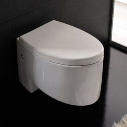 Nameeks - Scarabeo by Nameeks Zefiro Wall Mounted Toilet - ART. 8208 - Shop for Toilet from Hayneedle.com! Bring new life to your bathroom with the clean modern look of the Scarabeo by Nameeks Zefiro Wall Mounted Toilet. Update your style in an instant with the streamlined shape and convenient wall-hanging design of this contemporary toilet. Beautifully crafted of durable ceramic not only will it look new for years to come but it's ultra-easy to clean saving you time and hassle. The comfortable round bowl shape and right-side lever make it convenient to use. A clean white finish makes it easy to match with your other bathroom fixtures creating a polished look that perfectly coordinates. The best part just may be the high-efficiency dual-flush mechanism which is not only great for the environment but helps you save money on your water bill each month. Actuator not included.About Nameek sFounded with the simple belief that the bath is the defining room of a household Nameek's strives to create a bath that shines with unique and creative qualities. Distributing only the finest European bathroom fixtures Nameek's is a leading designer developer and marketer of innovative home products. In cooperation with top European manufacturers their choice of designs has become extremely diversified. Their experience in the plumbing industry spans 30 years and is now distributing their products throughout the world today. Dedicated to providing new trends and innovative bathroom products they offer their customers with long-term value in every product they purchase. In search of excellence Nameek's will always be interested in two things: the quality of each product and the service provided to each customer.