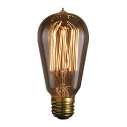 Bulbrite - Nostalgic Edison Squirrel Cage Light Bulbs - 6 Bulbs - One pack of 6 Bulbs. Historic style. 120V E26 base 1910 incandescent bulb type. Dimmable. Wattage: 40W. Average hours: 3000. Color rendering index: 100. 360 degrees beam spread. Color temperature: 2100K. Lumens: 120. Perfect for chandeliers, sconces and outdoor lighting