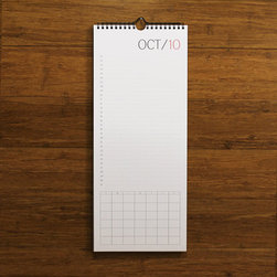 No Exp. Wall Calendar, Red by Redstar Ink - The twelve blank month pages allow you to use this calendar indefinitely or start it any time of the year.