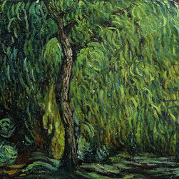 "overstockArt.com - Monet - Weeping Willow - 20"" X 24"" Oil Painting On Canvas Hand painted oil reproduction of a famous Monet painting, Weeping Willow. The original masterpiece was created in 1919. Today it has been carefully recreated detail-by-detail, color-by-color to near perfection. Why settle for a print when you can add sophistication to your rooms with a beautiful fine gallery reproduction oil painting? While Monet successfully captured life's reality in many of his works, his aim was to analyze the ever-changing nature of color and light. Known as the classic Impressionist, Monet cannot help but inspire deep admiration for his talent in those who view his work. This work of art has the same emotions and beauty as the original. Why not grace your home with this reproduced masterpiece? It is sure to bring many admirers!"