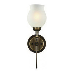 z-lite - Olde Bronze And Frosted Glass Wall Sconce - Condition: New - in box