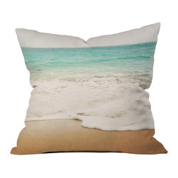 DENY Designs - Bree Madden Ombre Beach Throw Pillow - Wanna transform a serious room into a fun, inviting space? Looking to complete a room full of solids with a unique print? Need to add a pop of color to your dull, lackluster space? Accomplish all of the above with one simple, yet powerful home accessory we like to call the DENY throw pillow collection! Custom printed in the USA for every order.