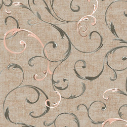 York Wallcoverings - PS3824 Wallpaper, Double Roll - Prepasted: Paste has already been applied to the back of the wallpaper and is activated with water.