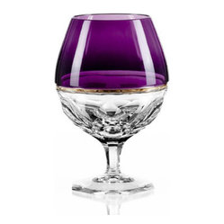 Waterford Elysian Amethyst Brandy Glass   Pair - Waterford Elysian Amethyst Brandy Glass   Pair