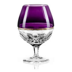 Waterford - Waterford Elysian Amethyst Brandy Glasses, Set of 2 - Waterford Elysian Amethyst Brandy Glass Pair