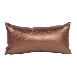Howard Elliott - Howard Elliott Ostrich Copper Kidney Pillow - Kidney pillow ostrich copper
