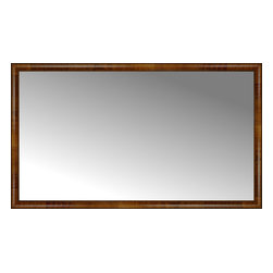 """Posters 2 Prints, LLC - 71"""" x 41"""" Belmont Light Brown Custom Framed Mirror - 71"""" x 41"""" Custom Framed Mirror made by Posters 2 Prints. Standard glass with unrivaled selection of crafted mirror frames.  Protected with category II safety backing to keep glass fragments together should the mirror be accidentally broken.  Safe arrival guaranteed.  Made in the United States of America"""