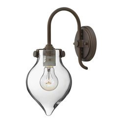 Hinkley Lighting - Hinkley Lighting 3177OZ Hinkley Lighting 3177CM Chrome 1 Light Indoor Wall Sconc - Hinkley Lighting 317 Congress Wall Sconce with Teardrop Shade Congress is a traditional design that combines both hip and historical elements. This chic