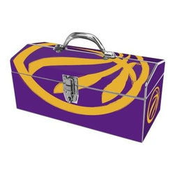 Sainty International 24-058 Art Deco Basketball Fanatics Tool Box - You will be ballin' on the work site with the all-steel Sainty International 24-058 Art Deco Basketball Fanatics Tool Box at your service. Coming in colors to make any Lakers fan proud, this tool box can resist rust with its powder-coat finish. It will keep your tools secure with its steel hinges and lockable latch.About Jiangsu Sainty Sumex Tools Corporation, LTD Touted as the only innovative foreign trade enterprise in Jiangsu province, China, Sainty Tools takes their tools seriously. In 2012 alone they exported their proprietary brands and patented products to over 60 countries and regions around the world. Dealing in hand tools, hardware, power tools, garden tools, and more, Sainty Tools has close relationships with over 400 domestic factories to handle their busy output. Quality is key to their rapid and sustainable growth as research and development of new products strengthens the core of their business.