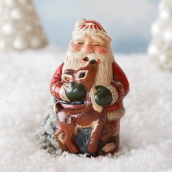 """Vaillancourt Folk Art - Santa Hugging Deer Figure - MULTI COLORS - Vaillancourt Folk ArtSanta Hugging Deer FigureDetailsHandcrafted challkware.Hand painted.2.5""""W x 4""""D x 5""""T.Made in the USA.Designer About Vaillancourt Folk Art:A family owned and operated business founded in 1984 Vaillancourt Folk Art has become a household name to collectors and Christmas enthusiasts around the world because of their highly detailed hand-painted chalkware figurines. From the largest private collection of vintage confectionary molds dating as early as the mid-1800s the contemporary chalkware style first developed by Judi Vaillancourt pays homage to the early Victorian decorative art form and is all completed in a small studio in central Massachusetts. Vaillancourt Folk Art operates with one goal in mind: starting your family tradition by creating that special gift that will be handed down throughout generations."""