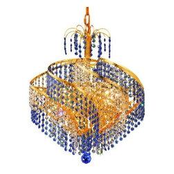 Elegant Lighting - Elegant Lighting 8053D18G Spiral 8-Light, Single-Tier Crystal Chandelier, Finish - Elegant Lighting 8053D18G Spiral 8-Light, Single-Tier Crystal Chandelier, Finished in Gold with Royal Cut CrystalsElegant Lighting 8053D18G Features:
