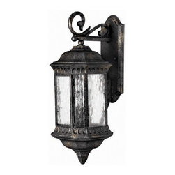 Hinkley Lighting - Hinkley Lighting 1725BG Regal Black Granite Outdoor Wall Sconce - Hinkley Lighting 1725BG Regal Black Granite Outdoor Wall Sconce