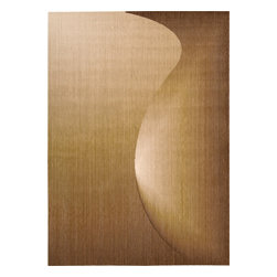 """Nourison - Nourison Radiant Arts RA01 (Amber) 2'3"""" x 4' Rug - Artwork worthy of any modern museum collection, these designs are seemingly painted from prisms of bending light. Subtle differences in hues create these stylish artistic effects."""