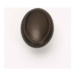 Alno Inc. - Alno Creations 1 1/2 Inch Oval Knob Chocolate Bronze A1560-Chbrz - Alno Creations 1 1/2 Inch Oval Knob Chocolate Bronze A1560-Chbrz