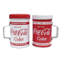 "Westland - 4 Inch ""Drink Coke"" Tin Salt and Pepper Shakers - Red and White - This gorgeous 4 Inch ""Drink Coke"" Tin Salt and Pepper Shakers - Red and White has the finest details and highest quality you will find anywhere! 4 Inch ""Drink Coke"" Tin Salt and Pepper Shakers - Red and White is truly remarkable."