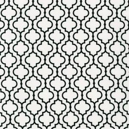 Tiles in White - This Greek-inspired print is on a quilting-weight cotton, which would be the perfect weight for napkins, curtains or faux wallpaper. If you live in a space with boring white walls, this would certainly add a lot more spice to the mix.