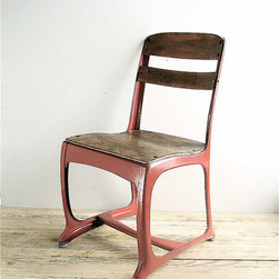 Vintage Child's School Chair by Lovintage Finds - This vintage school chair would work perfectly with a Parson's desk.