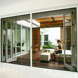Pleated Screens - LaCantina Doors Pleated screen system
