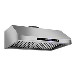 "Proline - Proline PLJW 120 Under Cabinet Range Hood, 30 - Professional Range Hood Model PLJW 120 With Electronic Controls, 6 Speed, 900 CFM & Stainless Steel Baffle Filters! (900 cfm blower included) One of the most powerful and quiet Range Hoods on the market, 900 cfm! Built for the most demanding applications this hood is Designed to be used! Stainless Baffle Filters that are easy to remove, and the quietest 385 CFM setting in the industry. (Based on comparable size and dual local blower capacity). 900 CFM total capacity with Elegant and Efficient ""Time Delay"" Touch Controls and new Remote. This Range Hood comes with blower and fan completely installed, and factory tested. This makes the installation one of the easiest in the industry."