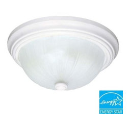 Glomar - Glomar 2-Light Flush-Mount White Dome Light Fixture HD-443 - Shop for Lighting & Fans at The Home Depot. This Glomar Green Matters 2-Light Flush-Mount White Dome Light Fixture is ideal for installation in hallways, foyers, bedrooms and kitchens. The frosted melon glass shade helps provide even light distribution. This may take up to 5 days in delivery.