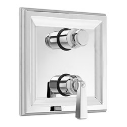 American Standard - Town Square Two Handle Thermostat Trim Kit with Separate Volume Control - American Standard T555.740.002 Town Square Two Handle Thermostat Trim Kit with Separate Volume Control in Polished Chrome.