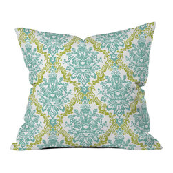 DENY Designs - Rebekah Ginda Design Lovely Damask Throw Pillow - Wanna transform a serious room into a fun, inviting space? Looking to complete a room full of solids with a unique print? Need to add a pop of color to your dull, lackluster space? Accomplish all of the above with one simple, yet powerful home accessory we like to call the DENY throw pillow collection! Custom printed in the USA for every order.