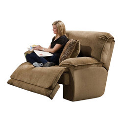 Catnapper - Catnapper Grandover Glider Recliner Chair in Sandstone - Catnapper - Recliners - 16206172036 - The Grandover Collection by Catnapper offers generously proportioned pieces upholstered in sandstone color soft durable chenille fabric.