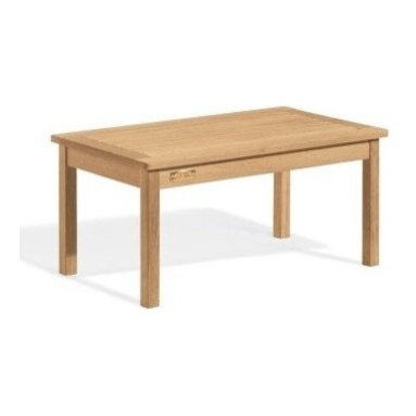 """Oxford Garden 36"""" Shorea Cocktail Table - The 36"""" Cocktail Table is just right. With oblong appeal, this durable Cocktail Table fits well with other components.  Place it in front of a Shorea Bench or pair it with a couple of Chairs.  It looks nice as a coffee table or with an outdoor ensemble.  You can even use it to enhance an office.  Strong, smooth and good-looking, with outstanding craftsmanship and ultimate confidence.  If the shoe fits (or the furniture), then wear it! Owning a"""